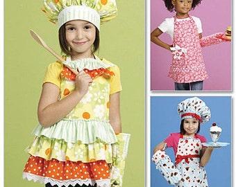 CHILD APRON PATTERN / Apron - Headband or Hat - Overn Mitt / Sizes 3 to 8