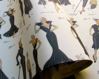 Decorative Paper- Vintage Fashion - 20 x 28 - Qty:4
