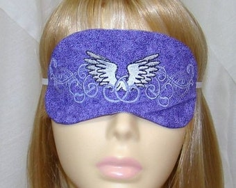 Wings Embroidered Sleep Mask