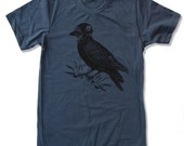 Men's Aviator CROW t shirt American Apparel s m l xl xxl (17 Colors)