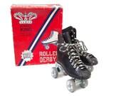 Vintage Black Roller Skates in Original Box