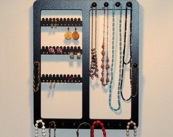 Jewelry Organizer, Earring Holder Ring Display, Elegant Deluxe Wall Mount, Bracelet Storage Necklace Rack