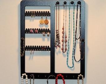 Jewelry Organizer, Earring Holder FREE SHIPPING, earring rack, Wall Mount, Bracelet Storage Necklace Rack