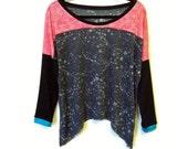 Paint Splatter Gauzy Jersey Sport Tunic