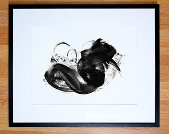 Giclee print - Multiple sizes. Black and white abstract. Limited to 200 printings