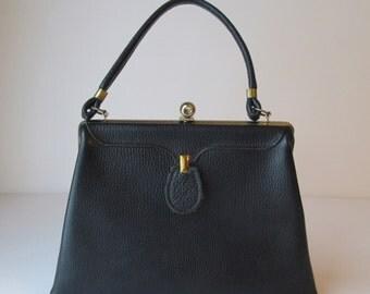 Navy Blue Kelly Handbag