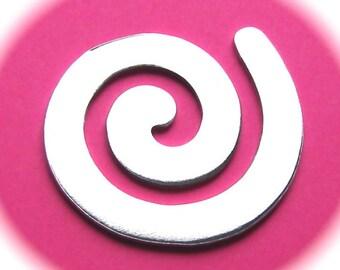 SALE - 20 - Swirls Polished 1-3/4 Inch 14 Gauge Food Safe Aluminum
