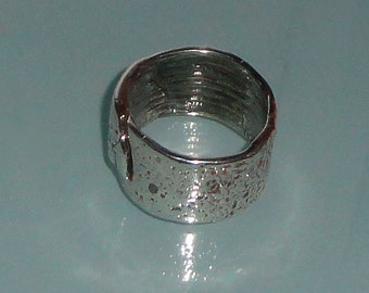 Solid Silver Pure Silver 999 Silver Slab Ring