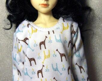 Giraffes sweatshirt for MSD, Soulkid, large bust Minifee, 1/4 bjd DOLL(Limited)