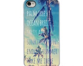 On Sale! Ocean Breeze Salty Air with White, Black, Clear Sides - IPhone Case 4, 4S, 5, 5S, 5C Hard Cover - Fun Unique Trendy  - artstudio54