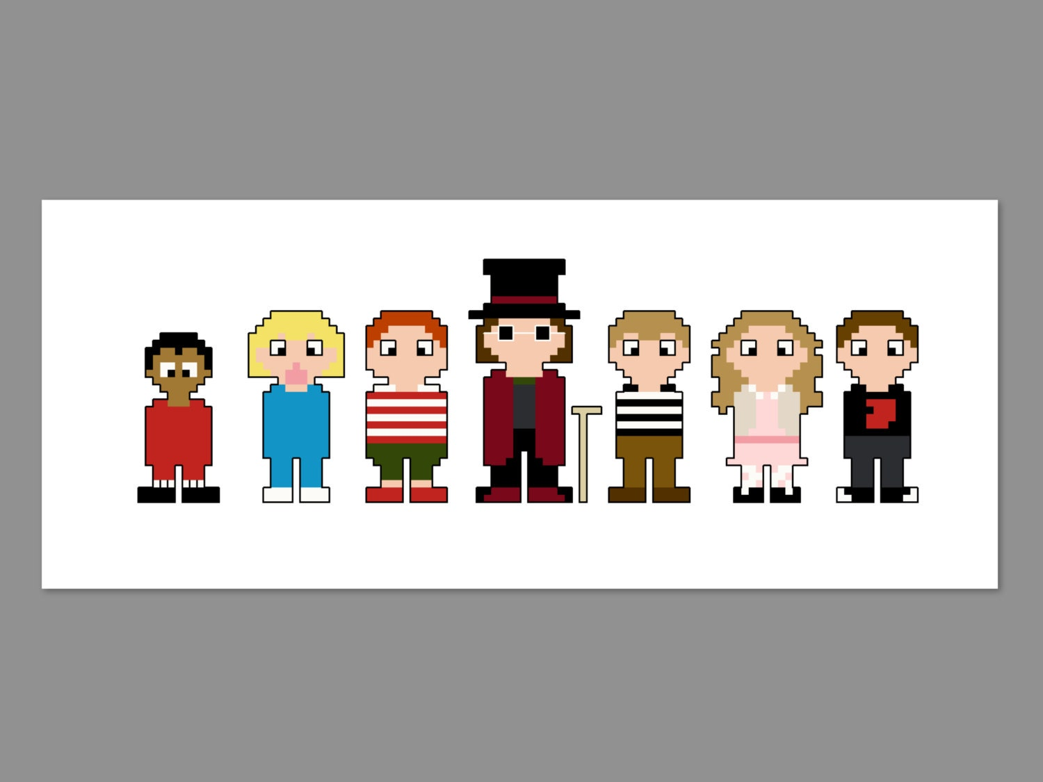 Charlie and the Chocolate Factory Pixel People Character Cross ...