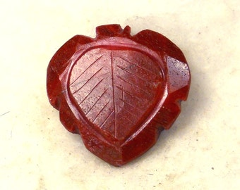 65.5 Carat  ..... Carved Ruby Faceted Gemstone ... 26 x 26 x 10 MM