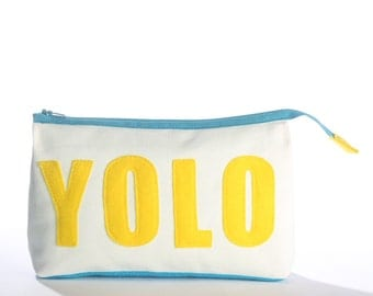 YOLO accessory pouch from eco-friendly materials
