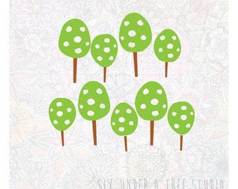 Little Forest Wall Vinyl Decals Art Graphics Stickers