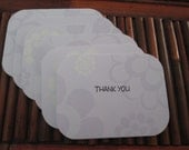 6 Mini Thank You Cards, Gift card holders or Receipts for your shop