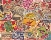 Vintage Matchbox Labels Cool Graphics Worldwide Lot of 15 for Altered Arts Collage Destash