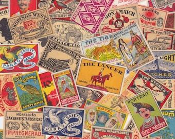 Vintage Matchbox Labels Cool Graphics Worldwide Lot of 15 for Altered Arts Collage Destash