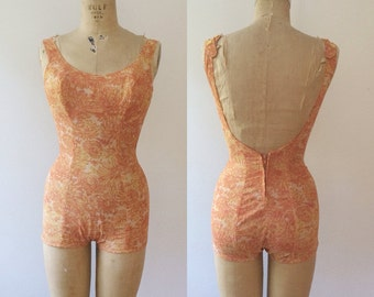 vintage swimsuit / 1950s swimsuit / Rose Marie Reid Swimsuit