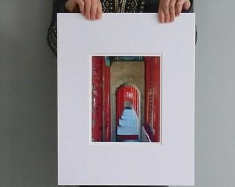 Door Photography, Asian Art, Doorway Photograph, Chinese Photography, Red Door Art, Forbidden City Doorway Photo, 8x10 Matted 16x20