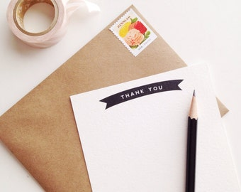 Simple Thank You Banner Flat Cards