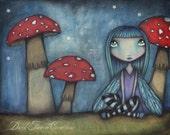 Amongst the Mushrooms - 8x10 SIgned Print