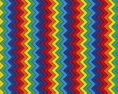 Primary Colors Multi Chevron Fabric - Timeless Treasures - C1654