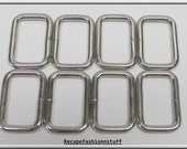 "rectangle 8 metal split rings,non welded,nickel,1 5/8"" long X 1 1/8"" wide,crafting,sewing,costume making,leather crafting,"