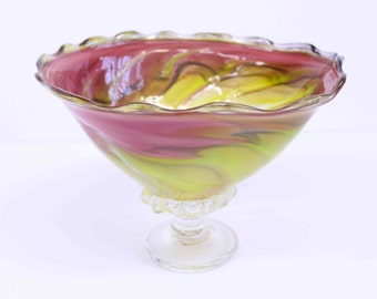 Home Decor Glass Blown Bowl 7