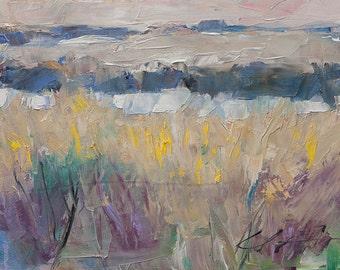 Pastel Coastal, Water, North Carolina, Original Painting by Clair Hartmann