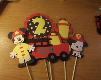 Mickey Mouse Fireman Centerpiece set