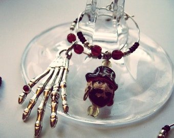 HALLOWEEN Pirate Party - Yo Ho Ho - Wine or Drink Charms