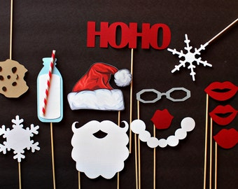 Christmas Photo Booth Props Christmas Photobooth Winter Photo Booth Props. Christmas Party Photobooth. Holiday Office Party. Christmas Minis