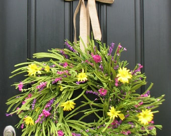 Summer Wreath - Front Door Wreath - Yellow Daisies - Summer Gardens - Daisy Wreaths - Wreaths - Handmade Wreaths