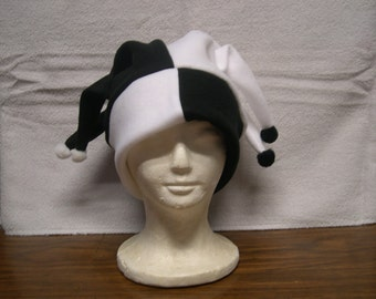 Harlequin Style fleece jester hat NEW