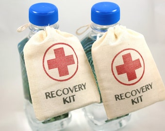 DIY Wedding Favor Bags - Recovery Kit - Set of 10