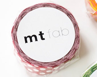 mini MINI - 2014 - mt fab washi tapes - flock print - dots -  (3 metres)