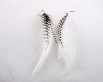 Grizzly flash feather earrings