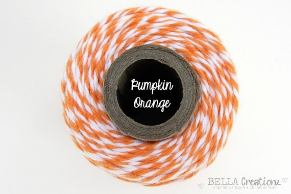 SALE - Pumpkin Orange Bakers Twine - TIMELESS TWINE