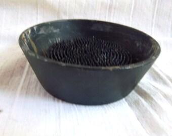Vintage Painted Iron Fog / Bowl Combination
