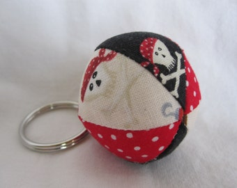 PIRATE Mini Fabric Jingle Ball Keychain