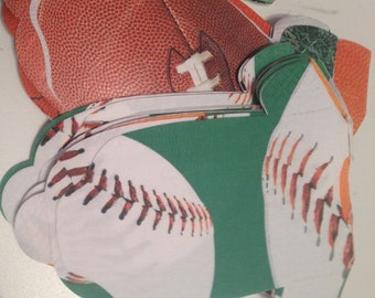 Any quantity sports themed baby shirt shaped napkins for baby showers.  Baby snap shirt shaped or bib shaped!