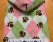So Pretty Argyle Dog Snuggly - Hooded or Neckband - 4 Sizes Available