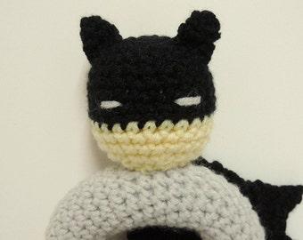 Crochet Batman rattle pattern