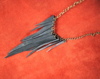Triangle Bike Tube Bib Necklace