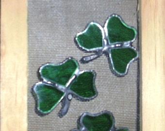 Stained Glass Skreen Sav'rs...Shamrocks...Three Pieces