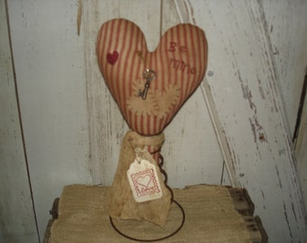 Valentine Heart Make Do, Primitive, Rustic, Rusty Spring Make Do, Valentines Day, Heart, Home Decor, Ofg, Faap, Hafair, Dub