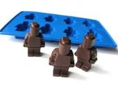 Lego man minifigure silicone mold for jello chocolate candy ice crayon mold tray DIY