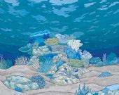 Sea Floor Print