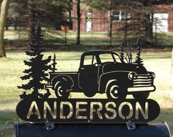 Popular items for vintage pick on etsy for Car mailboxes for sale
