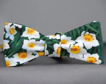 Daffodils in the Forest  Bow Tie